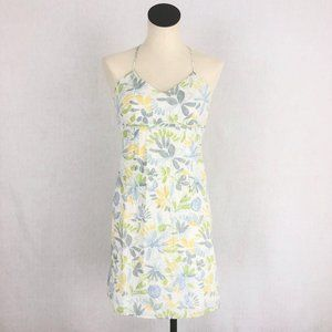 Old Navy Blue Floral Embroidered Mini Dress Sz 2